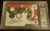 2019 Chronicles Carsen Edwards RPA Red Quad Relics BGS 8.5 NM Auto 10 POP1