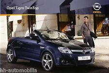 Opel Tigra TwinTop Prospekt 11/08 car sales brochure Autoprospekt Auto PKWs 2008