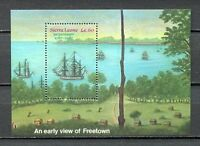 27633) . Sierra Leone 1987 MNH New Ship - Freetown S/S