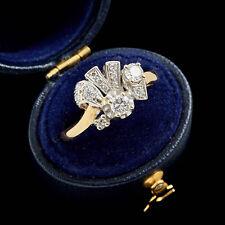 Antique Vintage Art Deco 18k Gold .86 Ct Diamond Wedding Engagement Ring! S 8.25