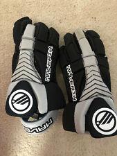 "Maverik Lacrosse Gloves Black Gray Large 13"" EUC - Used 1 Season"