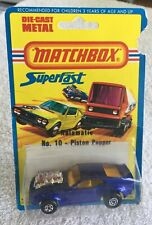 Matchbox 10, Piston Popper, Mint, 1973, Ford Mustang, Lesney Products, England