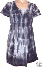 Loved Heidi Klum m, medium Tie dye short sleeve tunic knit top shirt blouse gray