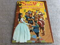 Vintage SNOW WHITE AND THE SEVEN DWARFS Coloring Book Playmore