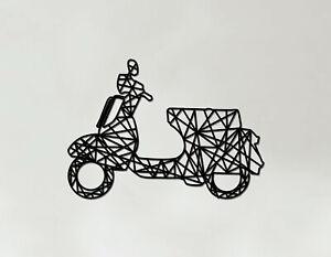 Scooter Art - Wooden Laser Cut Wall Art - Vespa Lambretta Gift
