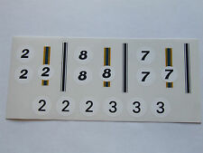 Really Useful Spares Repro Scalextric Decal Sheet RUD37 LOTUS INDY stripes/numbe