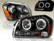 2005-2007 DODGE MAGNUM LED DUAL HALO CCFL BLACK PROJECTOR HEADLIGHTS