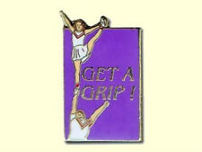 Cheerleading Get A Grip Slogan Lapel Pin REACH FOR THE STARS