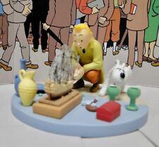 TINTIN MOULINSART HERGE Coffret Scene Plastique 43114 TINTIN AU MARCHÉ AUX PUCES