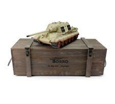 1:16 Torro German Jagdtiger Rc Tank 2.4Ghz Infrared Metal Edition Pro Desert