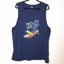 Life is Good Mens Blue Party Wave Tank Top Size XL