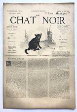 Rare revue, journal, Le Chat Noir. N° 124 du 24 mai 1884