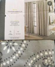 NEW One (1) Threshold Gray Medallion Window Curtain Panel 54x84