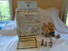 Boyds Bearly-Built Villages 1E/504 Bailey's Cozy Cottage #19002 w/Acc #19502-1!