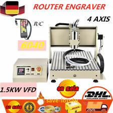 USB 4 Axis CNC 6040 VFD Máquina de grabado Máquina fresadora Engraver Mill 1.5KW