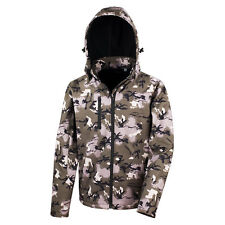 Result Ladies Camouflage Hooded Waterproof Soft Shell Jacket with Inner Fleece