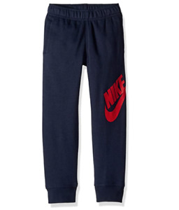 Nike Sweatpants Little Boys 4 XS Authentic Futura Cotton Cuff Bottom Dark Blue