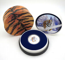 2010 PITCAIRN ISLANDS YEAR OF TIGER 1OZSILVER PROOF COINNZ MINT COA