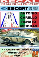 DECAL FORD ESCORT RS 1800 MKII ANTONIO CARELLO R.MONTECARLO 1979 DnF (09)