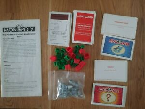 Monopoly (1996 version) Various Spares