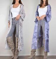 ASOS Lunik Tie Dye Kimono Duster Cardigan Boho Maxi Jacket Long Flowy Open Front