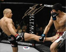 Georges St-Pierre Signed UFC 8x10 Photo PSA/DNA COA 154 Picture Autograph GSP 65