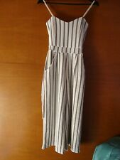 Quiz Blue & White Striped Jumpsuit/Playsuit Size 6 *Selling For Charity*