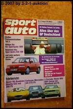 Sport Auto 8/91 Porsche 968 Ginetta G33 Corrado VR6