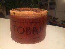 Vintage Swedish MCM mid century modern SOWE Teak wood Pipe smoking TOBACCO JAR