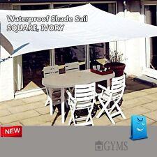 Waterproof SHADE SAIL 3.6M x 3.6M, 3.6x3.6m,3.6 by 3.6m square Ivory