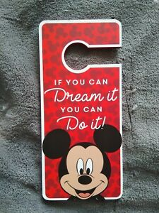 Disney Red Mickey Mouse Door Hanger Sign