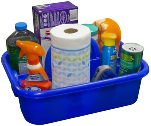 Plastic Tool Tote Supply Cleaning Caddy Handle First Aid Kit 18-3/8 X 13-7/8 In