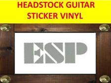 ESP SILVER HEADSTOCK GUITAR STICKER VINYL FOR RESTORATION & DECORATION CUSTOM