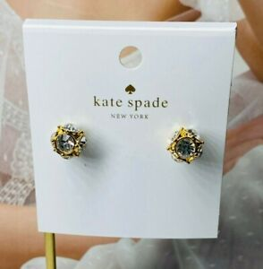 Kate Spade Crystal & White Pearl Drop Earrings