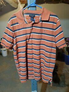 Vintage Ralph Lauren Polo Jeans Company Short Sleeve Shirt XL Orange Stripes