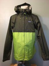 Patagonia h2no Rain Shell Zip Up Jacket Mens L Green Nylon Coat Hood Lightweight