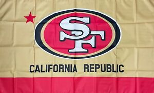 San Francisco 49ers California Republic NFL Flag 3x5 ft Banner Man-Cave Garage