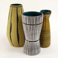 3 x Design pottery Vase Keramik ceramic Scheurich germany vintage 60er 70er1854