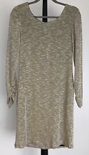 NEW Speechless size 13 sweater dress long sleeve metallic gold off white NWT $69