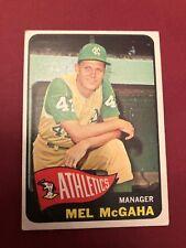 1965 TOPPS MEL McGAHA KANSAS CITY A'S MANAGER CARD #391
