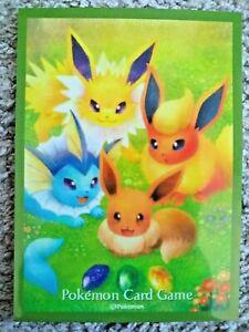 Eevee Evolution Jolteon, Flareon, Vaporeon Pokemon Card Sleeve Shield Single