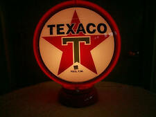 gas pump globe TEXACO repo. 2 GLASS LENS & LIGHT STAND, NEW, FREE SHIPPING