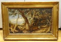 19th Century English Country Path Landscape John CONSTABLE Antique Oil Painting