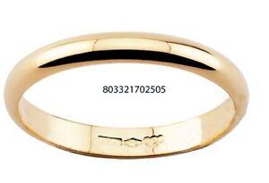 Diana fede fedina matrimonio oro Giallo 18 kt. grammi 3 classica regalo donna