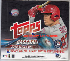 2018 Topps Series 1 Baseball Factory Sealed Jumbo Box