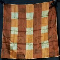 Vintage 1940's Silk Vera Neumann Checkerboard Scarf (23 x 23)