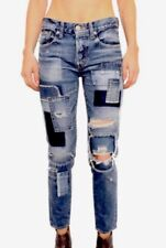 Moussy Jeans Patchwork Destroyed Crop Size 25