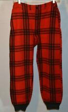 Vintage Jc Higgins 100% Virgin Wool Hunting Pants Sears Red Black Buffalo Plaid