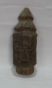 Old Antique Hand Made Original Wooden Face Tribal Mask Collectible