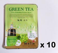 10pcs Korea beauty cosmetic [Malie] GREEN TEA Essence Face Mask sheet 0.88oz/25g